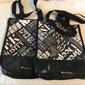 lululemon athletica Bags - Bundle of two lululemon reusable bag
